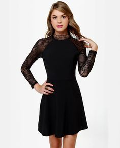 A new lacy LBD that we LOVE- Strike of Midnight Black Lace Dress