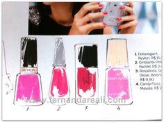 Esmalte cor de rosa no sábado 2 de Março. Pink or Rose Nail Polish