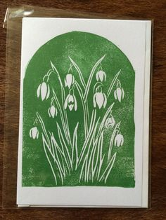 Hand-printed from an original lino-cut. Supplied with envelope and cello sleeve. Linocut Prints, Art Prints, Pottery Painting, Encaustic Painting, Floral Drawing, Linoprint, Simple Prints, Floral Wall Art, Chalk Pastels