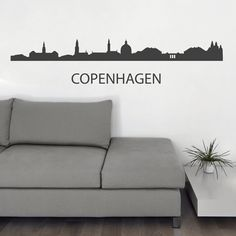 Copenhagen Skyline Wall Sticker. Copenhagen is the vibrant capital of Denmark with a breathtakingly splendid and dramatic skyline that is sure to impress people if you have it as the prime wall art in the most important walls in your home. http://walliv.com/copenhagen-skyline-wall-sticker-wall-art-decal