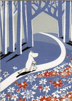 Moomin Valley was inspired by the area around Jansson's family summer house in northern Finland. Moomin Wallpaper, Les Moomins, Moomin Valley, Tove Jansson, Lappland, Up Book, Children's Book Illustration, Finland, Illustrations Posters