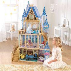 Disney Princess Cinderella Royal Dreams Dollhouse with Furniture by KidKraft - Walmart.com