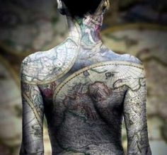 Full body map tattoo