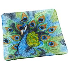 Proudly strut your cooking skills with a brilliant Peacock Platter
