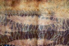 210615 Rust Indigo and Stitch work (Detail) Shibori, Textile Art, Rust, Indigo, Im Not Perfect, Textiles, Stitch, Detail, Gallery