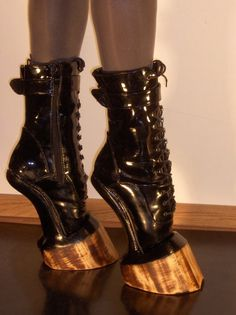 Hell on Hooves ~ BDSM, Patent Leather boots.