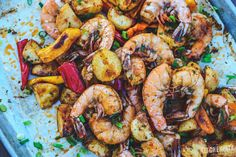 Cajun Butter Roasted Shrimp, Peppers & Potatoes Recipe on Yummly
