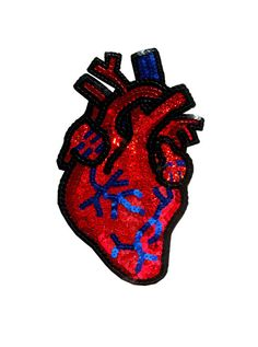 Custom Anatomical Heart Patch Sequin Patch