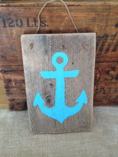 Hand Painted Anchor Sign on Driftwood by theoceancottage on Etsy, $15.00