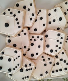 Don't roll these sugar cookie dice at your Bunco Nite.
