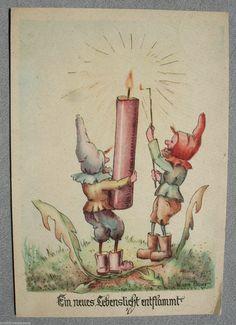 AK Ansichtskarte EIN NEUES LEBENSLICHT ENTFLAMMT Künstlerkarte W.vom Baur 1950 | eBay