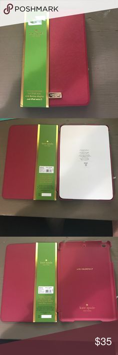 Never been used iPad mini Kate Spade case BRAND NEW!!! NEVER BEEN USED! WAS BOUGHT FOR $75 AND KATE SPADE!!!! kate spade Other