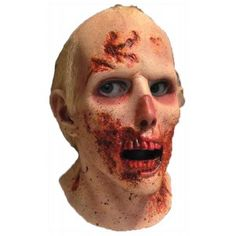 Walking Dead RV Screw Driver Zombie Latex Mask Our Price $59.99  With every gorey detail this RV/Screw Driver Zombie Mask from the Walking Dead is a gruesome hit for Halloween or conventions. Full over the head latex mask with attached hair is one size - fits most teens and adults.  Care instructions - wipe with damp cloth only no bleach. Not a toy; for decorative use only. Ages 14 and up.  Note: Contains Latex. Should not be worn by those with an allergy to Latex.  #cosplay #costumes…