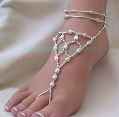 Barefoot Sandals Instructions | ... out these fun and fabulous Barefoot Sandals by Lady Bead Jewelry