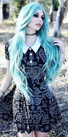 awesome Blue hair... by http://www.danazhaircuts.xyz/scene-hair/blue-hair/