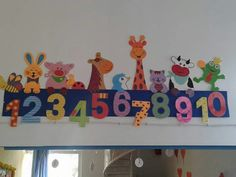 Numbers wall decorations for school   funnycrafts