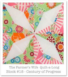 Farmer's Wife Quilt-a-Long - Block 18 - Century of Progress by Monica Solorio-Snow/Happy Zombie thehappyzombie.com
