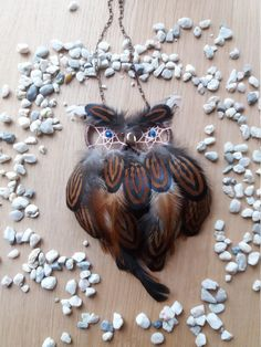 Owl dream catcher necklace dream necklace by DreamyFlowerWonder