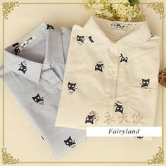 Buy 'Fairyland – Long-Sleeved Cat Print Shirt' with Free International Shipping at YesStyle.com. Browse and shop for thousands of Asian fashion items from China and more!