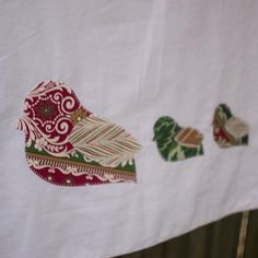 (9) Name: 'Sewing : Christmas Partridge Applique Pattern