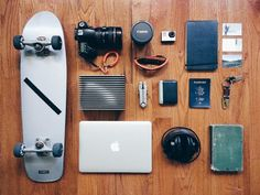 The Burning House Name: NYCOccupation: Filmmaker List: Skateboard Camera and lenses GoPro camera Notebook Business cards - still need to hustle Hard drive Sunglasses Multi-tool Wallet Passport Keys Laptop Headphones Mere Christianity by C. Longboard Design, Skateboard Design, Mere Christianity, Burning House, Camera Gear, Gopro Camera, What In My Bag, Edc Everyday Carry, Photography Gear