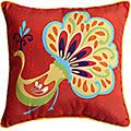 Peacock Pillow - Red... 20 dollars. I think this is adorable!
