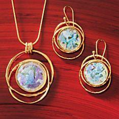 Gold-vermeil Roman Glass Jewelry