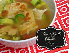 This mouthwatering Pico de Gallo Chicken Soup is great soup for a cold fall or winter day. The jalapeno gives it a little bit of kick that is easy to adjust.