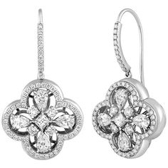 a4637da5c9d9 For Sale on - One of a Kind Clover Earrings The earrings are White Gold  There are Carats of Diamonds F VS Earrings Measure x Th earrings weigh