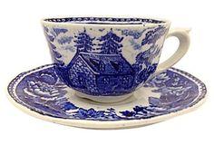 Arabia of Finland Cup & Saucer Tea Cup Saucer, Tea Cups, Blue And White China, Royal Copenhagen, Marimekko, Royal Doulton, China Dinnerware, Wedgwood, Ceramic Pottery