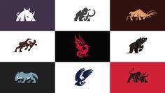Charging animal logos