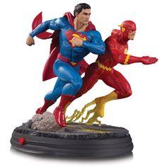 BLOG DOS BRINQUEDOS: Superman vs. The Flash Racing Statue Man Of Steel, Comic Character, Comic Book Characters, Comic Books, Action Figures, Action Comics 1, Dc Comics Art, Marvel Dc, Marvel Heroes