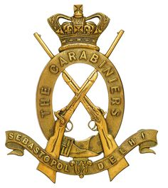 British; 6th Dragoon Guards (Carabiniers),pouch badge pre 1880(1880 awarded additional honour of Afghanistan 1879-1880)