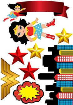 Wonder Woman Birthday, Wonder Woman Party, Girl Birthday, Birthday Parties, Diy Party Decorations, Party Themes, Girl Superhero Party, Girl Themes, Party In A Box