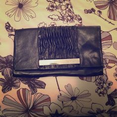 Calvin Klein Clutch - Black Leather