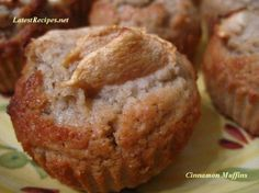 Cinnamon Muffins - made them for breakfast this morning. No apples, Splenda instead of sugar and pumpkin spice with brown sugar sprinkled on top. Delicious!