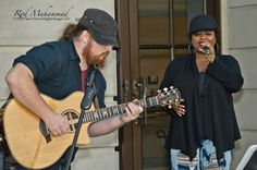 Me and Chris Odom aka White Chocolate Soul getting into the love of music at the Midtown EcoFest Atlanta, GA