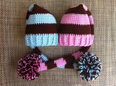 Newborn Twin Hats,