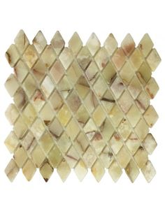 Light Green Onyx, Diamond Mosaic Tile - Tumbled Onyx Tile #light_green_onyx #diamond_mosaic_tile