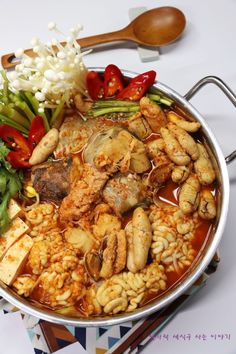 Asian Recipes, Ethnic Recipes, Korean Food, Kung Pao Chicken, Soups And Stews, Food And Drink, Diet, Baking, Chef Recipes