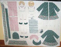 Virginia doll panel, Wamsutta