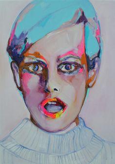 "Saatchi Online Artist Patricia Derks; Painting, ""Puzzled"" #art"