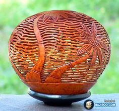 Amazing Sculptures Made Of Coconuts, Bali