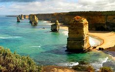 I have to make a trip to Port Campbell, Australia. Love the combination of cliffs and beaches with blue water. Beautiful....hope I can make it there one day.