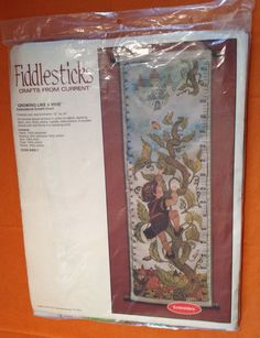 Jack And The Beanstalk Growth Chart Embroidery Kit 1982 Current Crafts Peter Pan #CurrentCrafts