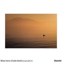 Póster Misty views of Lake Garda Lake Garda, Alps, Posters, Celestial, Sunset, Outdoor, Paper Envelopes, Outdoors, Poster