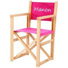 fauteuil metteur en sc ne enfant personnalis bois blanc fauteuil de metteur. Black Bedroom Furniture Sets. Home Design Ideas