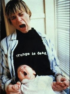 One of my favorite photo's of Kurt Cobain and his then infant daughter, France Bean. Taking from a photo shoot for Spin magazine back in 92, it was one of the few times his was clean and off drugs