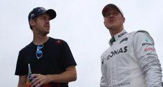 """F1, Michael Schumacher scherza: """"Vettel? Felice di non essere suo compagno"""""""