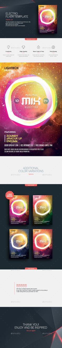Minimal Mix  Flyer Template — Photoshop PSD #stylish #electro party • Available here → https://graphicriver.net/item/minimal-mix-flyer-template/15601811?ref=pxcr